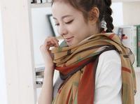 Ян недавно мода женские классические полосы дизайн высокого качества Хлопок шею шарф хаки & zpassion