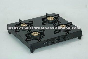 Glass top 3 burner gas stove
