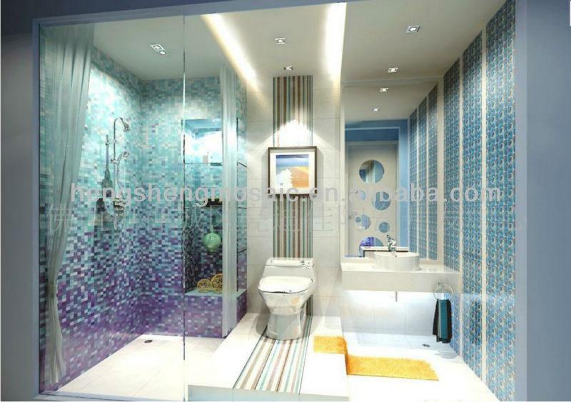 Cristallo mosaico di vetro verde mattonelle della parete per stanza da bagno 8mm piazza hxb108 - Mattonelle mosaico per bagno ...