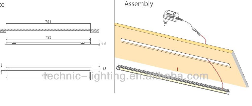 dimbare led onder kast verlichting touch sensor schakelaar ubder