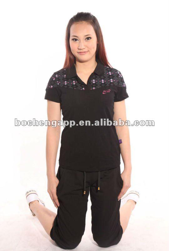 Summer women fashion brand polo shirts