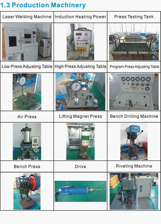 قياس الضغط العام y60d-60mm/ حالة الفولاذ مع الزجاج pc