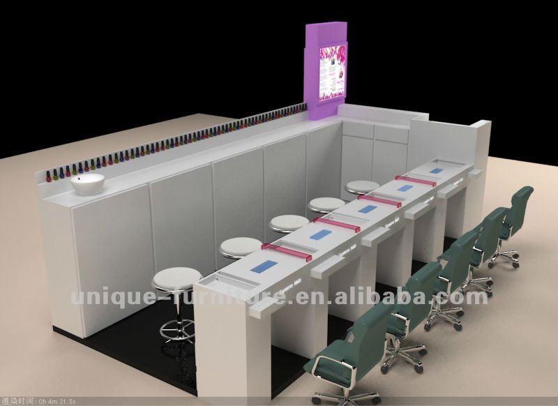 6 3m Nail Kiosk 4 Manicure Station 2 Pedicure Nail Kiosk