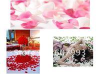 Лепестки роз Purple white Artificial Rose Petals, Silk Petals for Wedding party decoration, fabric silk flowers 4000pcs/lot
