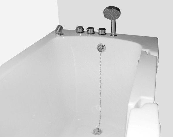 White Acrylic Walk in Bathtub for the Elderly