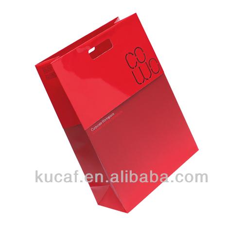 Foil Hot Stamping Logo Kraft Euro Tote Paper Bags