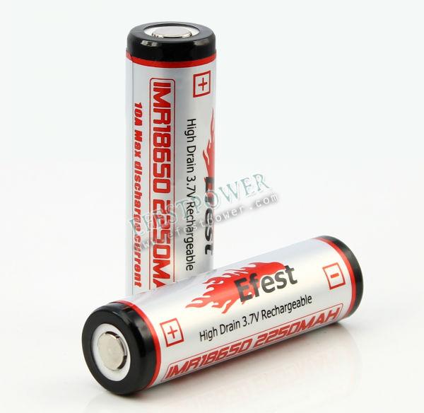 Efest IMR 18650 2250mAh battery