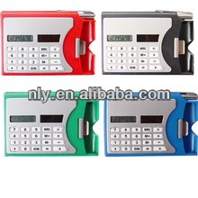 solar powered name card holder 8 digit desktop calculator