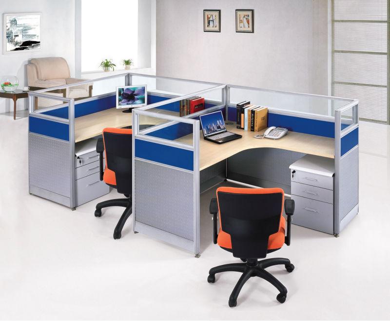 modern fashion design office aluminium melamine modular workstation