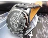 Наручные часы Top Quality hot sales round dial Black Leather watch men fashion quartz wrist Watch MD279