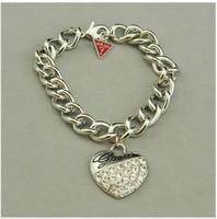 Браслет на ногу 15usd, shippinig! jewelry ggs United States played temperament wild peach heart diamond fashion bracelet owner r