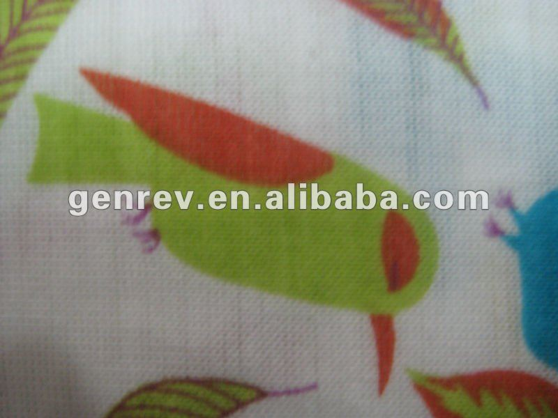 viscose and polyester fabric printed single jersey