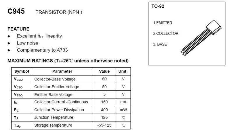 S9014/s9015, bc547/bc548/bc549, bc557/bc558, c945, a1015, c1815, a733, s8050, 8550 s