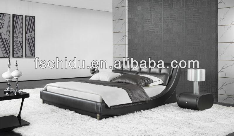 고급 침대, 가죽 머리판 침대, 킹 가죽 침대 프레임 a9917-침대 ...