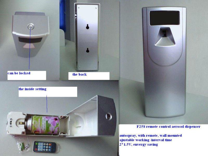 F258 remote control aerosol dispenser