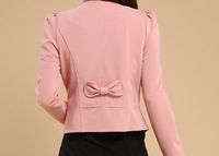 Женский костюм 2013 Black/Red/Pink/White/Yellow tops L, XXL, 3XL, 4XL, 5XL Fashion slim flower plus size women coats clothing woman blazer jacket