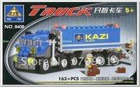 праздник просветить ребенка 6409 diy игрушки Образовательные самосвал грузовик 163pcs Кази строительный блок наборы, Детские игрушки