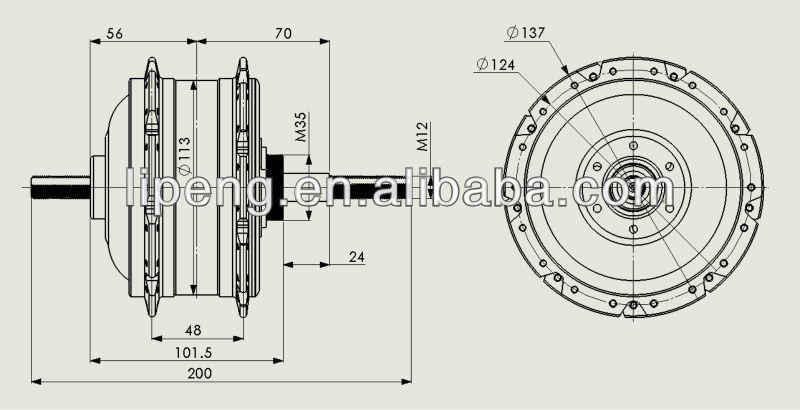 front wheel motor for bicycle high speed dc brushless e bike hub motor