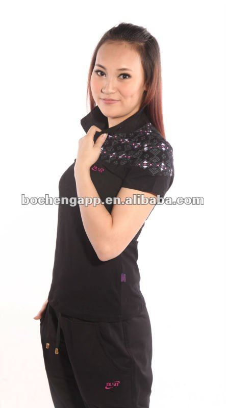 Summer women fashion brand polo shirts