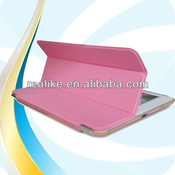 Original smart cover for ipad mini 2,three folding for new ipad mini ultra thin pu leather case