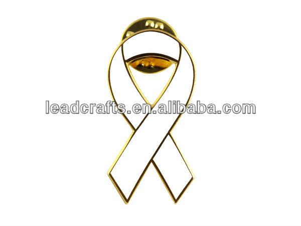 Rosa y WhiteEnamel Colorear SIDA Cinta Pin Insignia-Artesanía Metal ...