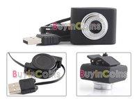 Mini USB 5M Retractable Clip WebCam Web Camera Laptop  [3725 01 01]