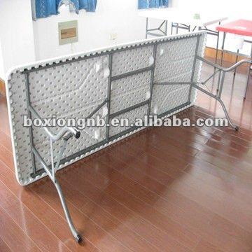 8ft mesa plegable de pl stico 8 pie regular plegadora for Mesa plegable plastico