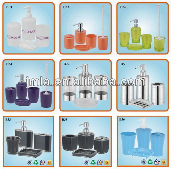 Latest Design 4pcs Plastic Purple China Bathroom Fitting