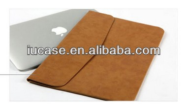 PU Leather Envelop Laptop Sleeve for MacBook Pro, PU laptop bag for Mac, leather laptop case for macbook pro air