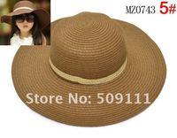 Шапка для девочек Hot style Baby girl straw sun hats sunhats for kids wide brim beach hat Children caps 10pcs BH510