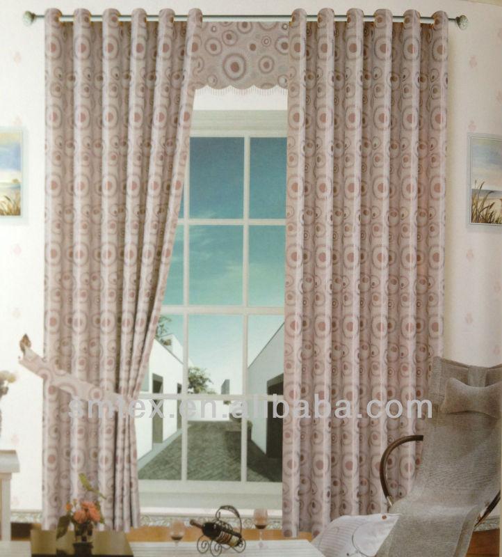 European Style Jacquard Blackout Window Curtain Pattern