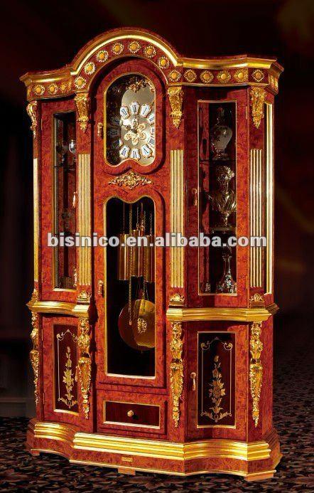 Decoracion de casa de lujo antiguo 24 k oro laminado piso reloj ...