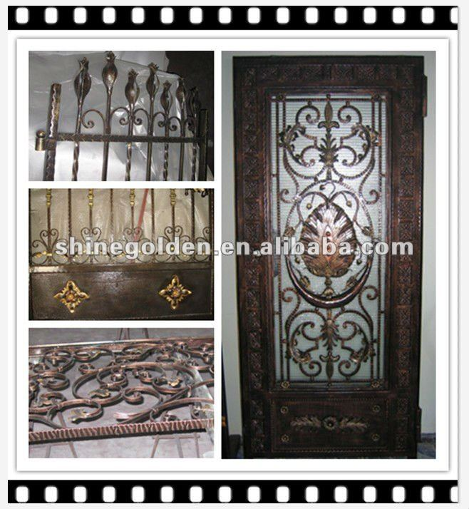2012 wrought iron main fence gate grill design