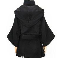 чернокожих женщин искусственного меха fox волосы леди теплое пальто куртка короткие шерсть пиджаки подпоясанный шинели/1 шт.
