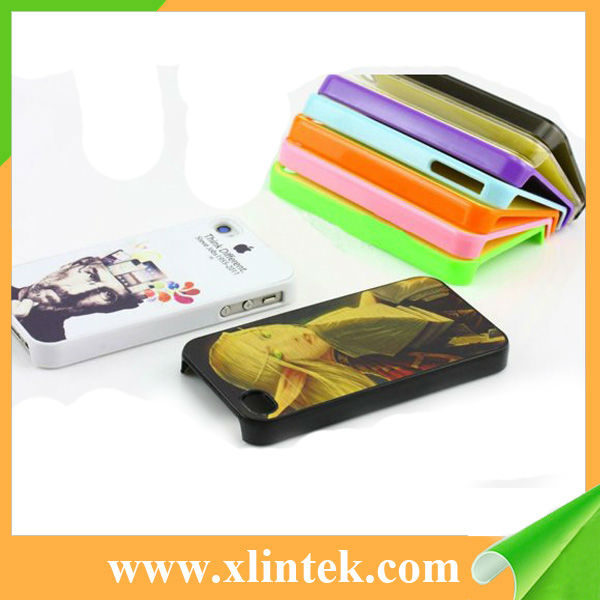 Blank sublimation case for iPhone 4 with metal insets