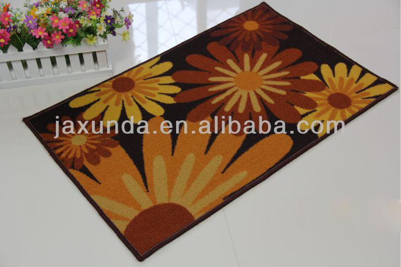 Nouveau modèle 100% polyester, latex, retour imprimer grande porte tapis