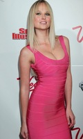 In stock Sexy Ladies' Bodycon Bandage Dress H-007 Pink Sleeveless Evening Dress