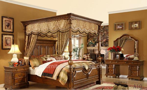 Italie Luxe Royal Antique Meubles De Chambre Coucher King Size Lit En Bois Classique A01 Lots