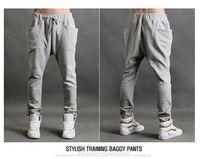 Летние спортивные штаны мужской тонкий случайные конусом брюки шаровары Мужские