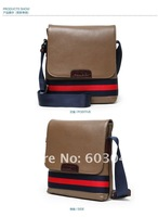 FREE SHIPPING (1PC) GENUINE COW  LEATHER + MESSENGER MEN BAG + BUSINESS MEN BAG 120301-2