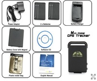 2012 Upgrade GPS Trackers TK-102B, Mini Global Real Time 4 bands GSM/GPRS/GPS Tracking Device(drop shipping supported)