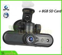 Автомобильный видеорегистратор OEM DHL EMS 8GB SD GPS + HD 1080P + 120