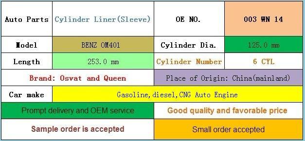 BENZ OM401 Cylinder Sleeve(Liner)