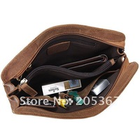 Портфель 6065B Classic Crazy Horse Leather Men's Dark Brown Briefcases Clutch Bag Factory Price