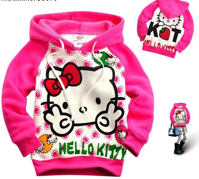 Hello Kitty Girls Pink Hoodie 2 7 Years Hoody Sweatshirt Jumper Jacket