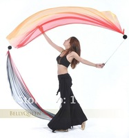 Женская одежда 2012 Belly Dance Veil Poi, 1 SET = 2 Veils + 2 Poi Chains
