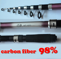 Удочка Y64 2.7m 8.858ft high Carbon Spinning Telescopic lure ice fishing rod pole