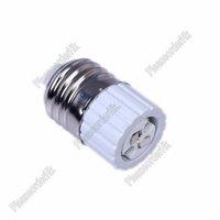 2x E27 To MR16 Converter Screw Base LED Halogen CFL Light Lamp Socket Adapter Top Free Shipping