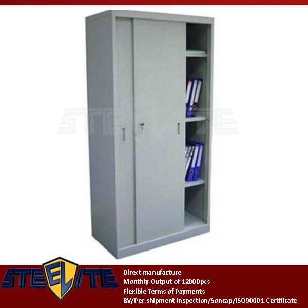 metal sliding door storage cabinet 2