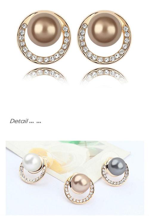 Simple Pearl Earrings Designs Simple Design Pearl Stud